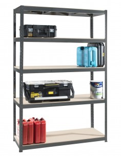 5 Tier Heavy-Duty Boltless Shelving Unit (WIDE)